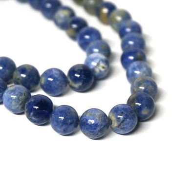 Sodalite beads, natural blue gemstone, 10mm round, FULL bead strand (1066S)
