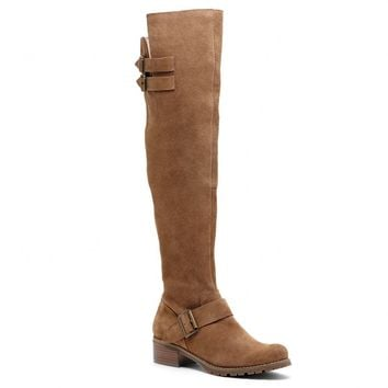 Sole Society Umber Suede Over The Knee Boot