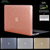 SZEGYCX Shine Glitter Hard Laptop Cover Case For MacBook Air Pro Retina 11 12 13.3 15 For Macbook New Pro 13 15 Cover