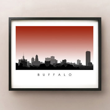 Buffalo Skyline - New York Cityscape