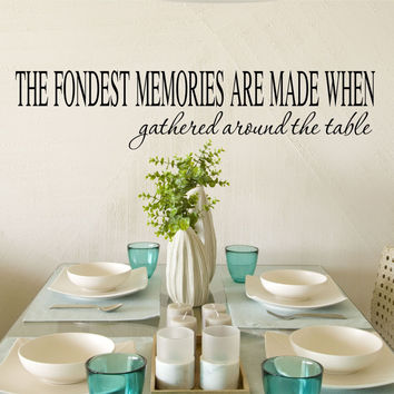The Fondest Memories Vinyl Wall Decal Sticker