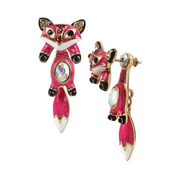 MINI CRITTERS FOX EARRINGS: Betsey Johnson