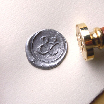 Ampersand and Heart Wax Seal Stamp Custom Order