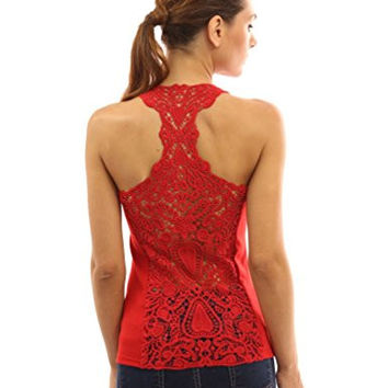 Crochet Lace Racerback Tank Top