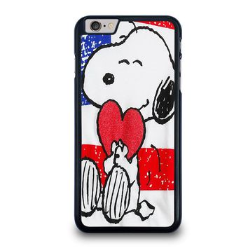 SNOOPY HEARTS AMERICA GIRLS PEANUTS iPhone 6 / 6S Plus Case