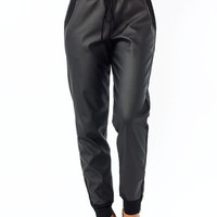 Faux-Real-Zippy-Joggers BLACK - GoJane.com