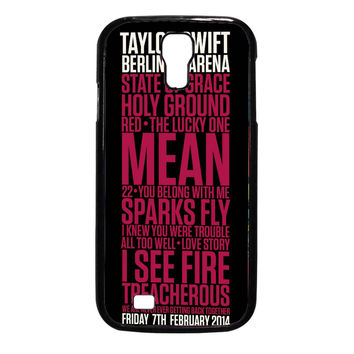 Taylor Swift Red poster FOR SAMSUNG GALAXY S4 CASE**AP*