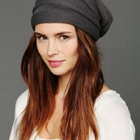 Free People Stripe Ruched Slouch Hat