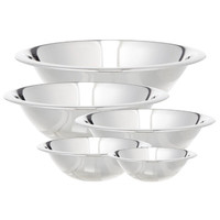 Cook Pro 5 Piece Stainless Steel Mixing Bowl Set