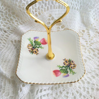 Vintage Dish Candy Stand/Tidbit/Jewelry Holder/Cottage Style Decor