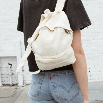 Light Yellow Mini Backpack - Bags & Backpacks - Accessories