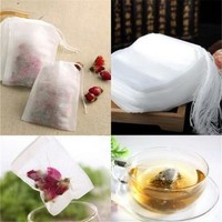 100 Pcs/Set Empty Tea Bag Tea Leaf Herbal Filter Paper Loose Tea Bag