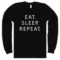 Eat. Sleep. Repeat.-Unisex Black T-Shirt