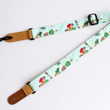 ukulele strap,ukulele accessories,ukulele bag,ukulele case,uke,soprano,hawaiian strap,hawaiian fabric,tropical,palm tree,hula g A