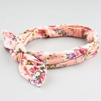 FULL TILT Floral Print Bow Knot Headband | Hair Accessories