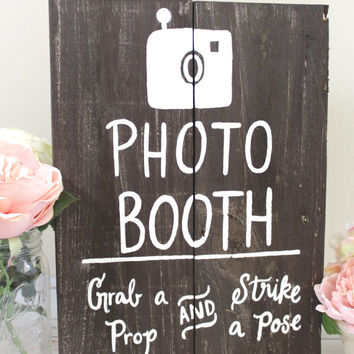 Wooden Photo Booth Sign