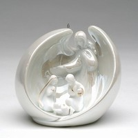 Angel with Holy Family Christmas Tree Ornaments, Set of 4 - Seasonal & Holiday Decorations