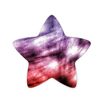 Rainbow Swoosh Star Sticker
