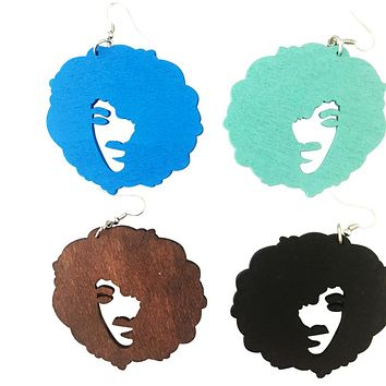 Fro'd out earrings | natural hair earrings | Afrocentric jewelry accessories
