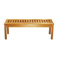 4-Ft Eco-Friendly Outdoor Wood Garden Bench in Natural Finish