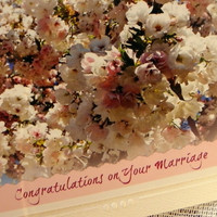 MARRIAGE Congratulations, Photo Greeting Card, Printed Text, Handmade,  Decorative Embossed Card Stock, Coordinating Envelope