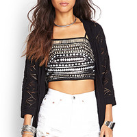 FOREVER 21 Diamond Knit Cardigan