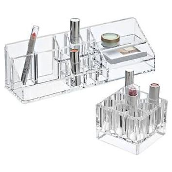 Lovely ... The Container Store Acrylic Cosmetic Organizers On Urban Living Room  Christmas Decor
