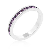Stylish Stackables with Lavender CZ Ring