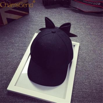 Trendy Winter Jacket Chamsgend Bowknot Baseball Caps Women Girls Adjustable Snapback Hip Hop Street Dance Hat 80413 AT_92_12