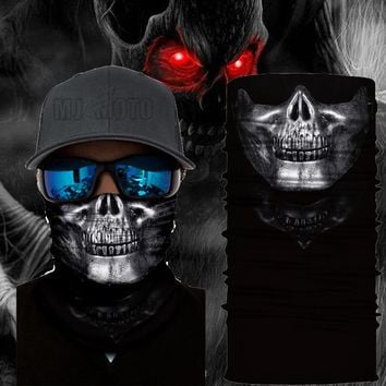 Mask Balaclava Face Shield Sun Ski Hood Skull Face Mask Windproof Motorcycle bike Scarf Skiing Scary mask Bandanas