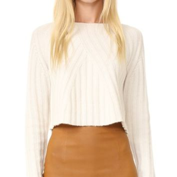 Casey Cropped Long Sleeve Sweater