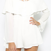 Cool Your Jets Playsuit - White