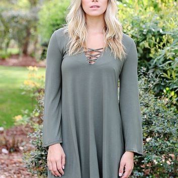 Army DLMN Lace Up Dress