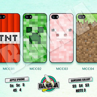Minecraft Creeper Game Land,  iPhone 5 case, iPhone 5S case, iPhone 5c case, Phone case, iPhone 4 Case, iPhone 4S Case, Phone Skin, MCC01