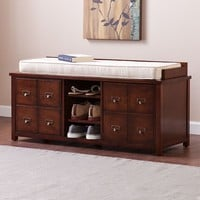 Asdell Apothecary Storage Bench (Brown)