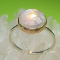 Rainbow Moonstone Ring 2 Every Day Jewelry by louisagallery