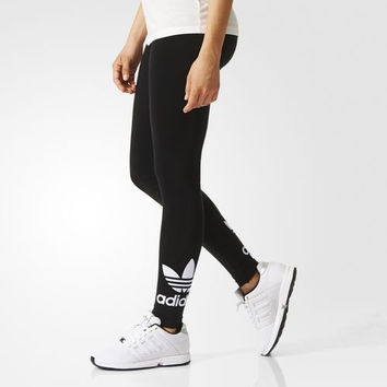 """""""Adidas"""" Women Clover Letter Print Casual Tights Stretch Long Pants Sweatpants"""