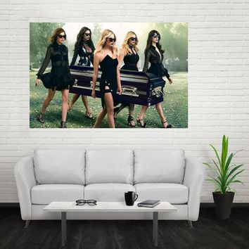 Nice New Pretty Little Liars Poster Custom Canvas Poster Art Home Decoration Cloth Fabric Wall Poster Print Silk Fabric Print