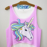 Spring Unicorn crop top