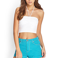 FOREVER 21 Cuffed Denim Shorts Teal