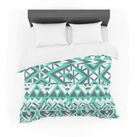 """Pom Graphic Design """"Tribal Simplicity"""" Teal Featherweight Duvet Cover"""