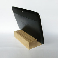 iPad Stand. Wooden iPad Stand. iPad wood dock station. Oak Wood iPad Stand. Nexus 10 Stand. Wood Tablet Stand