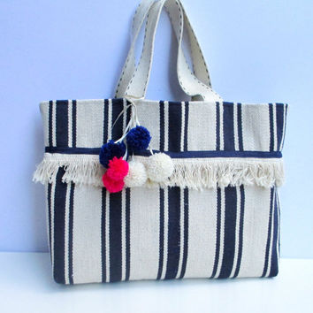 Carpet bag, woven, handmade bag, farmers' market bag,beach bag, shoppers bag,