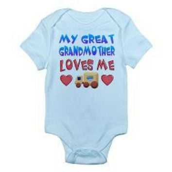 "Baby-Boy ""Great Grandmother"" Infant Bodysuit> Gifts for Boys from Great Grandma> Only Originals"