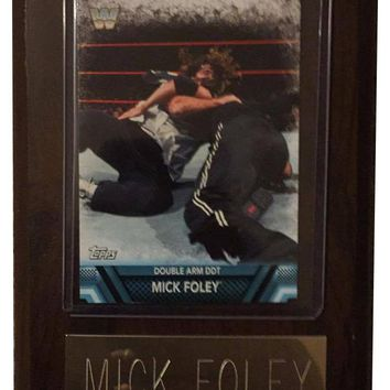 "Mick Foley 4"" x 6"" WWE Legend Wrestling Plaque"