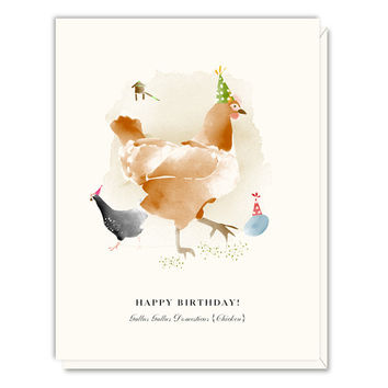Birthday Chickens card