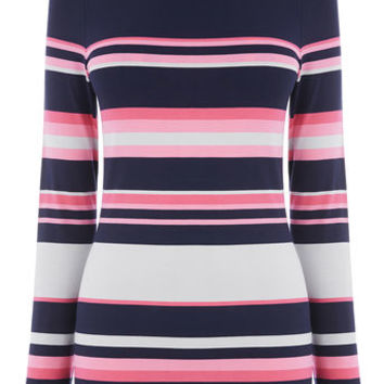 WINTER STRIPE ENVELOPE NECK