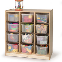 Whitney Brothers 12 Cubby Storage Cabinet WB1410