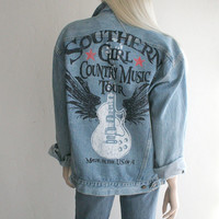 Denim Jacket Southern Girl Country Music Tour