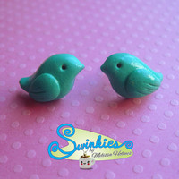 Stud Bird Earrings Handmade
